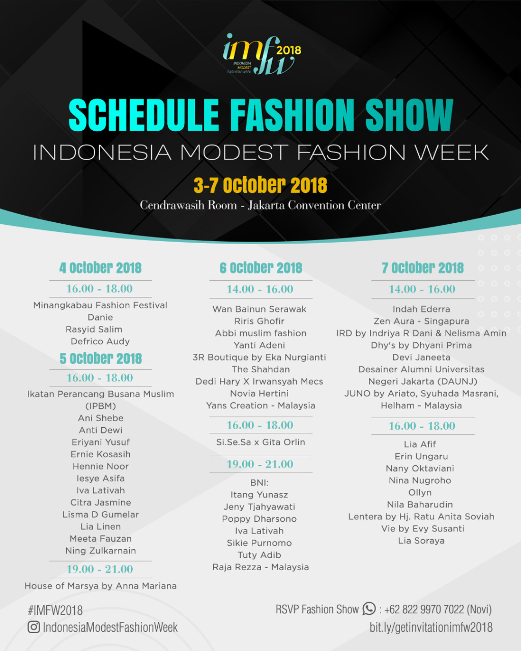 schedule indonesia modest fashion week 2018